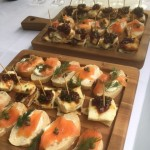 Selection Of Canapes For A Wedding Menu