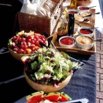 Catering - Salad And Sauces Set Up